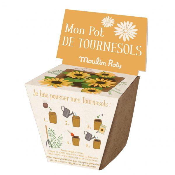 Kit vaso semi girasole Le Jardin Moulin Roty