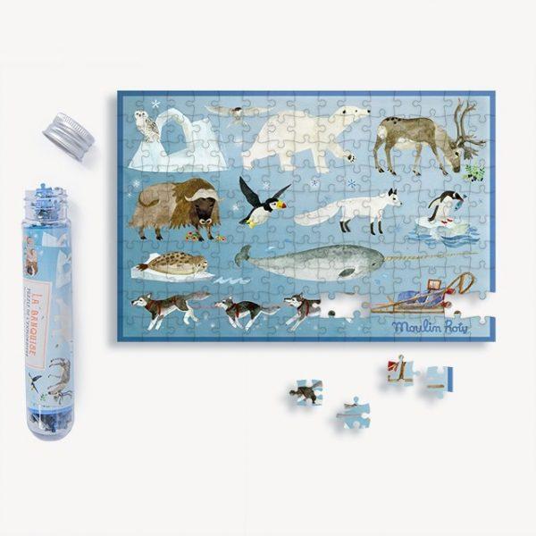 Mini puzzle Animali del Artico Le Jardin Moulin Roty