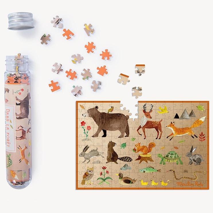 Mini puzzle Una notte nella foresta Le Jardin Moulin Roty