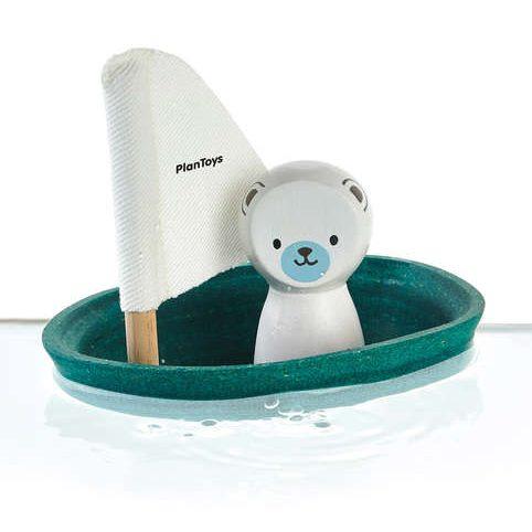 Gioco bagnetto barca a vela - orso Plan Toys