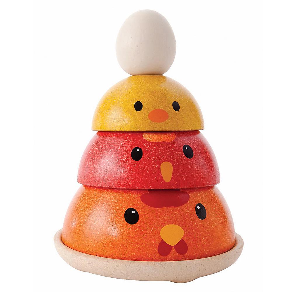 Gioco impilabile equilibrio gallina Plan Toys