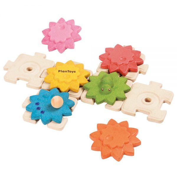 Puzzle ingranaggi colorati - 12 pezzi Plan Toys