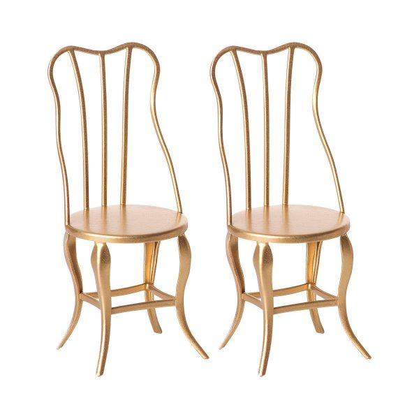 Set sedie Vintage chair micro oro Maileg