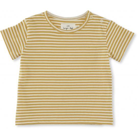 T-shirt Reya righe curry Konges sløjd