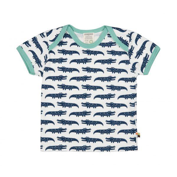T-shirt coccodrilli blu Loud+Proud