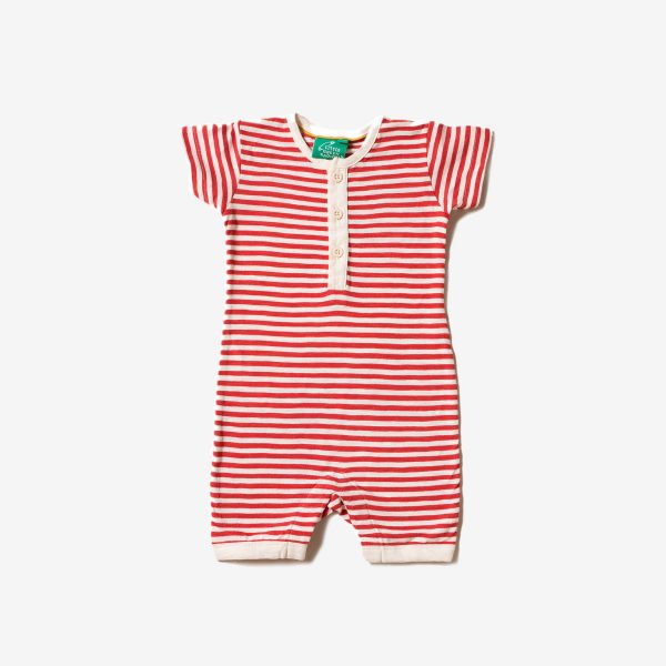 Tutina corta Red stripe Little green Radicals
