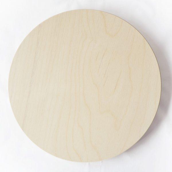 Vassoio rotondo senza bordi legno betulla 40 cm