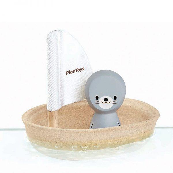 Gioco bagnetto barca a vela - foca Plan Toys