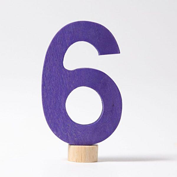 Figura decorativa legno numero 6 - Grimm's