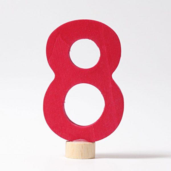 Figura decorativa legno numero 8 - Grimm's