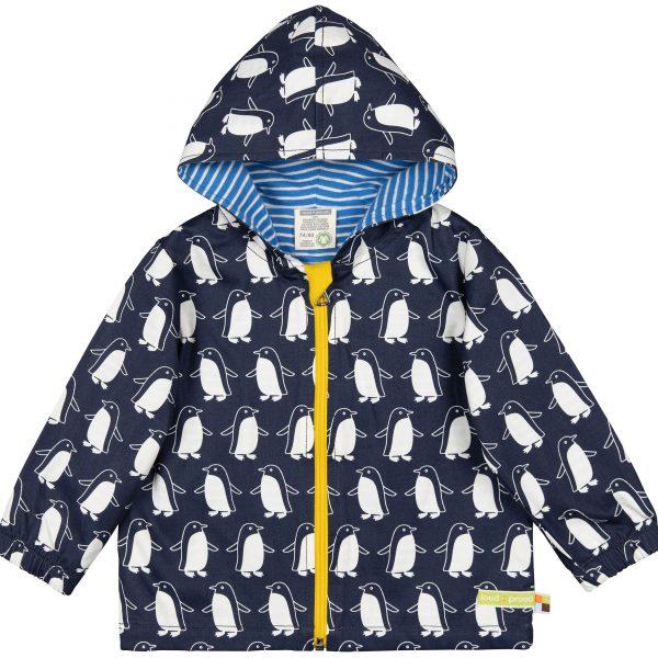 Giacca anti-pioggia cotone Pinguini blu Loud+Proud