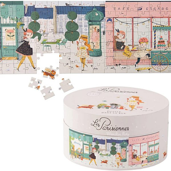 Puzzle La città 140 pezzi Les parisiennes Moulin Roty