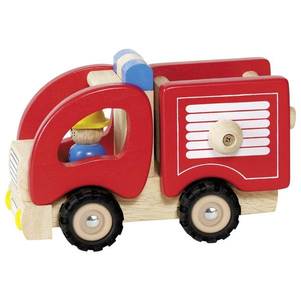 Automezzo pompieri in legno Goki