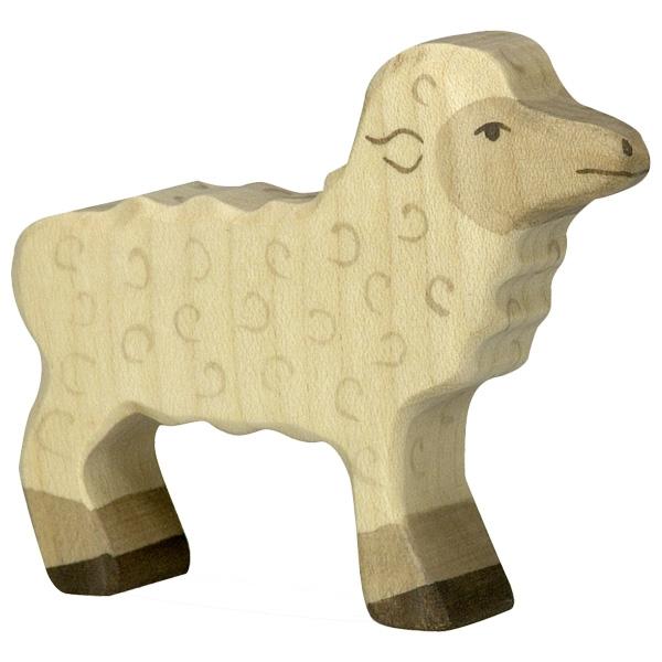 Figura legno Agnello - Holztiger