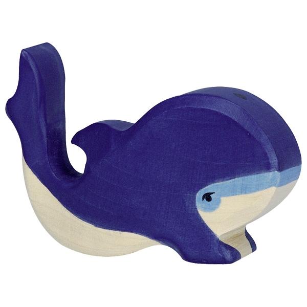 Figura legno Balenottera azzurra piccola - Holztiger