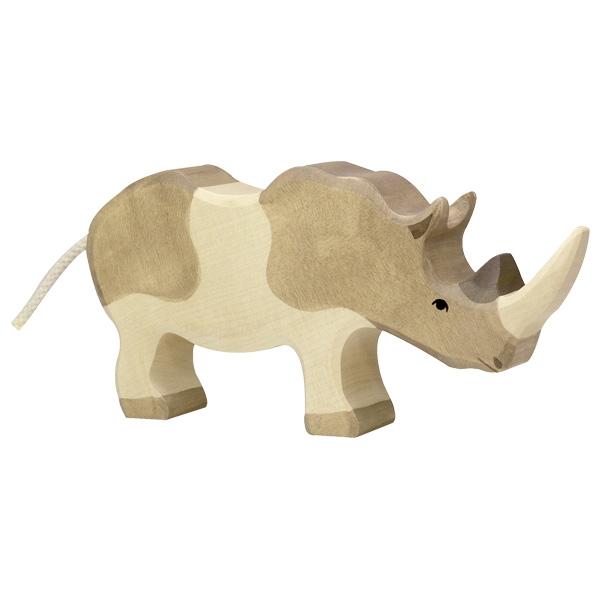 Figura legno Rinoceronte - Holztiger