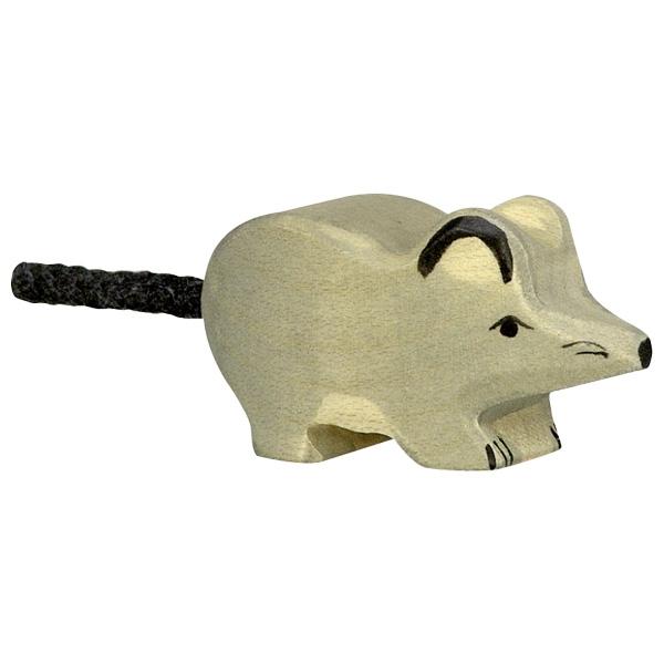 Figura legno topo grigio - Holztiger