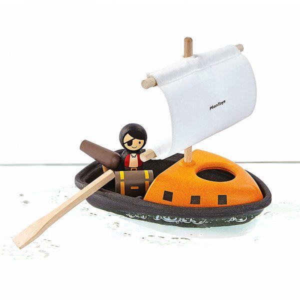 Gioco bagnetto barca pirata galleggiante Plan Toys
