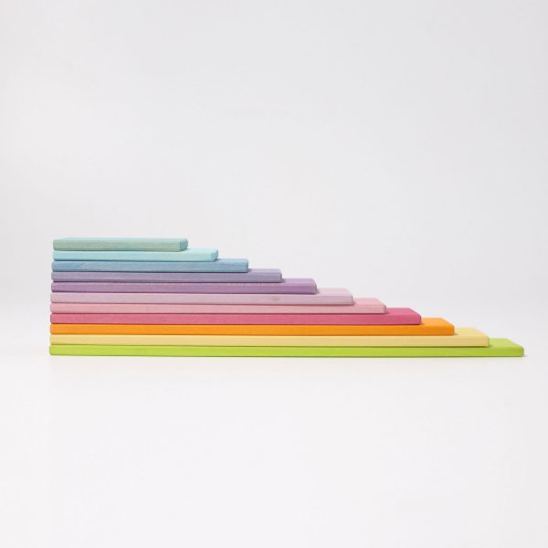 Listelli arcobaleno pastello - Building Boards Grimm's