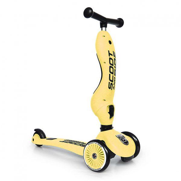 Monopattino e cavalcabile 2in1 Giallo Scoot and Ride