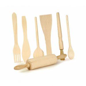 Set gioco utensili cucina in legno Egmont Toys