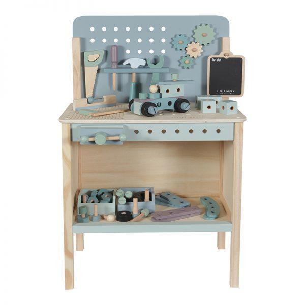 Children's workbench with tool belt Little Dutch