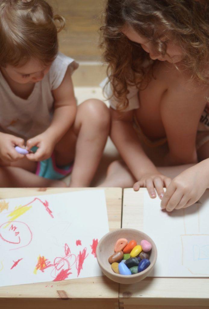 Set 16 sassolini Pastelli a cera di soia Crayon Rocks