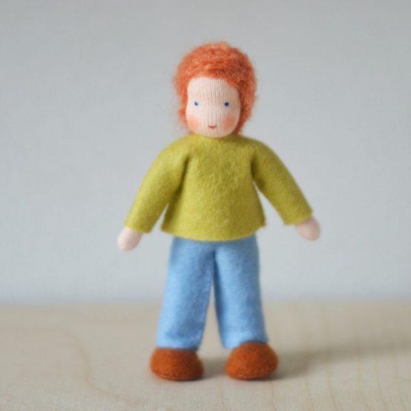 Dollhouse Family Bambino maglia verde Ambro-dolls