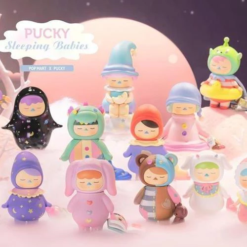 Figura in vinile Pucky Sleeping Babies - blind box Pop Mart
