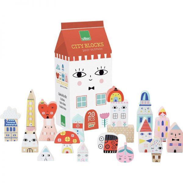 Figure legno Tiny City blocks Vilac