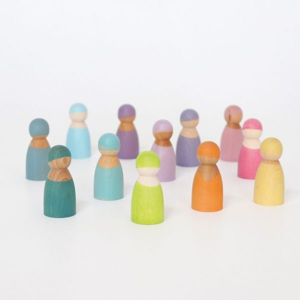 Gioco 12 amici dell'arcobaleno pastello Grimm's
