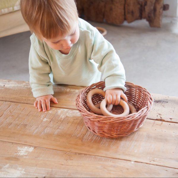 Gioco euristico 3 anelli medi legno Grapat