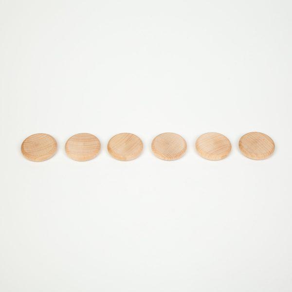 Gioco euristico 6 monete legno Grapat