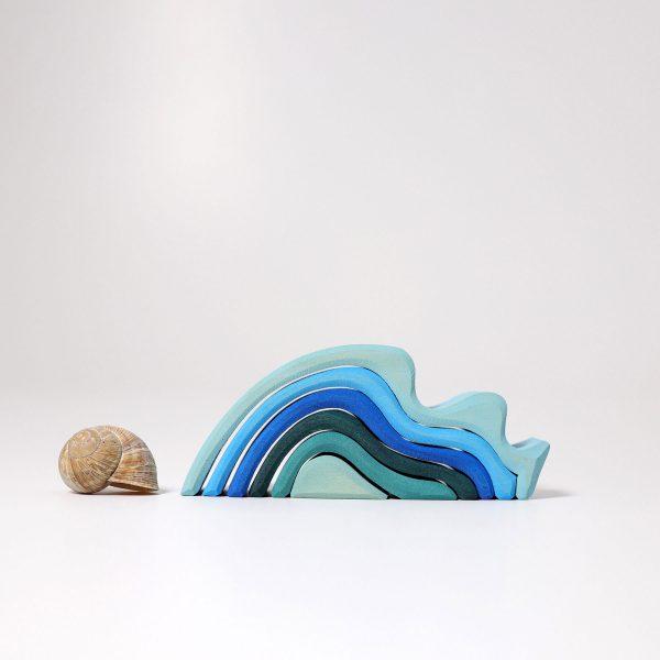 Impilabile legno onde mini Grimm's - 6 pezzi