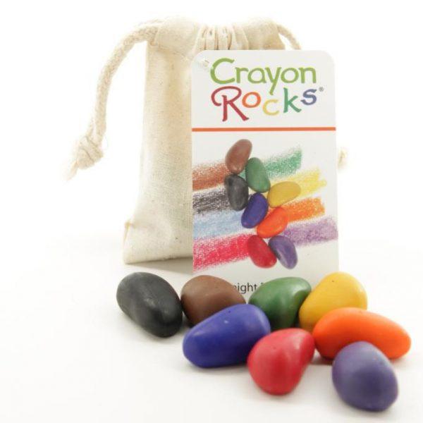 Set 8 sassolini Pastelli a cera di soia Crayon Rocks