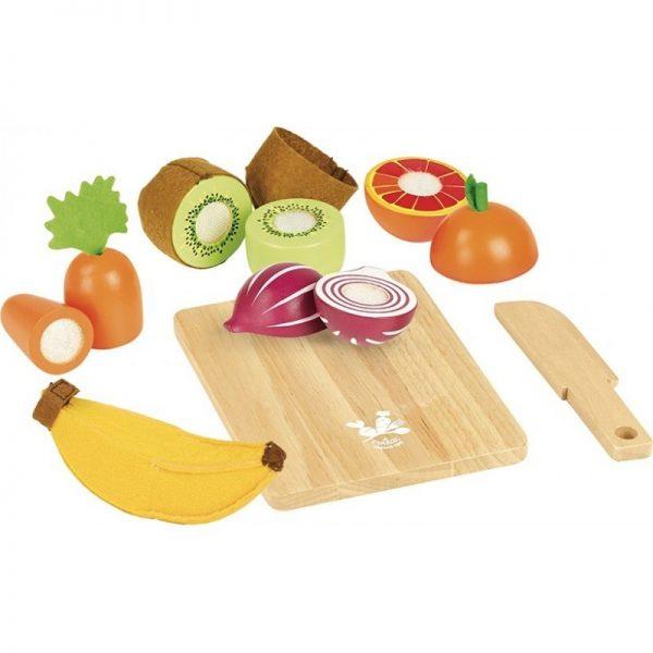 Set vassoio frutta e verdura da tagliare Vilac