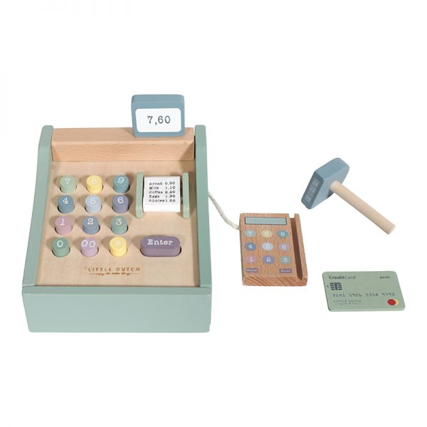 Toy cash register with scanner Little Dutch