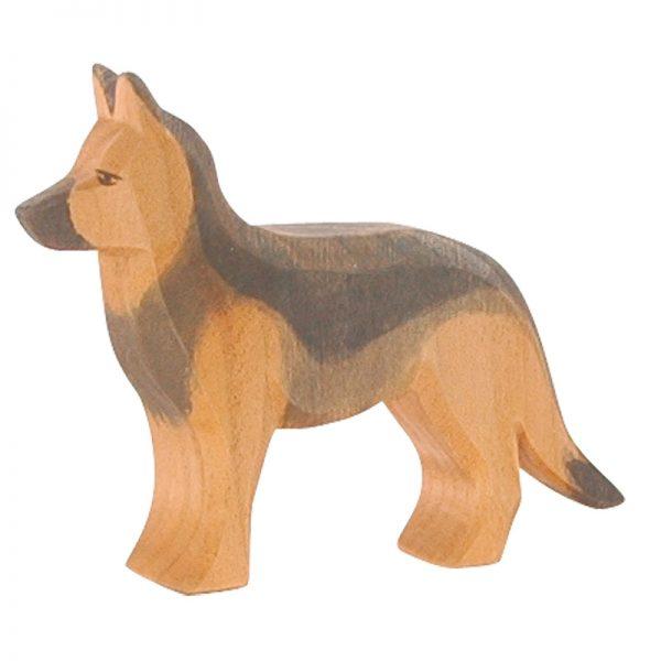 Figura legno cucciolo cane S. Bernardo - Ostheimer