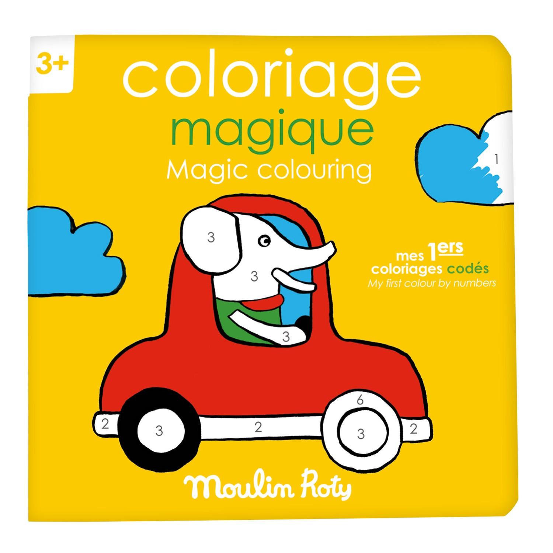 Quaderno da colorare gioco-imparo Magia Popipop Moulin Roty