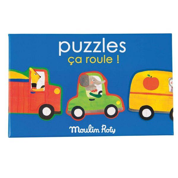 Set 4 puzzle In viaggio Popipop Moulin Roty