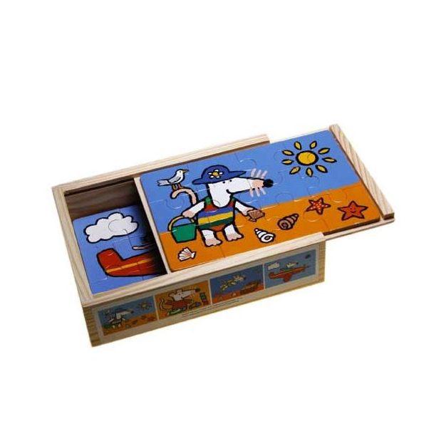 Set 4 Puzzle legno in scatola Maisy mouse