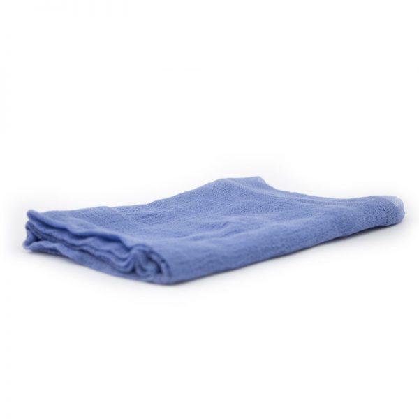 Telo gioco garza di cotone 90 x 90 cm blu lago - Ostheimer