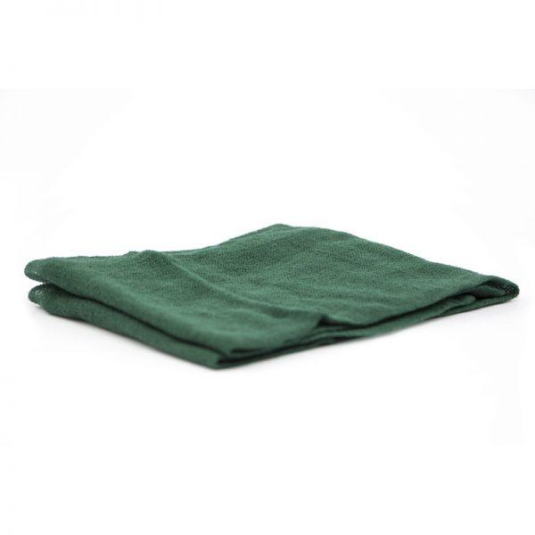 Telo gioco garza di cotone 90 x 90 cm verde scuro - Ostheimer