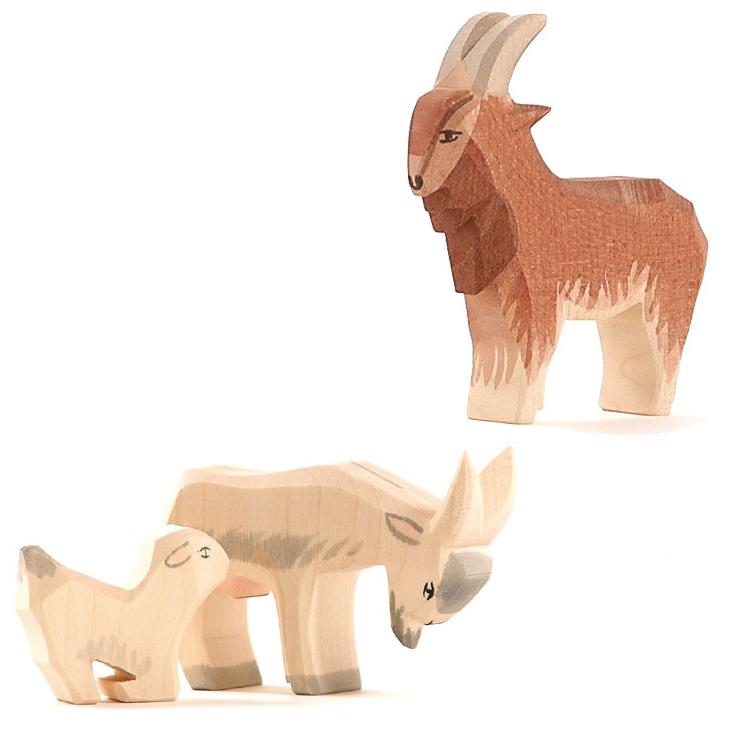 Figure legno Famiglia capre - Ostheimer