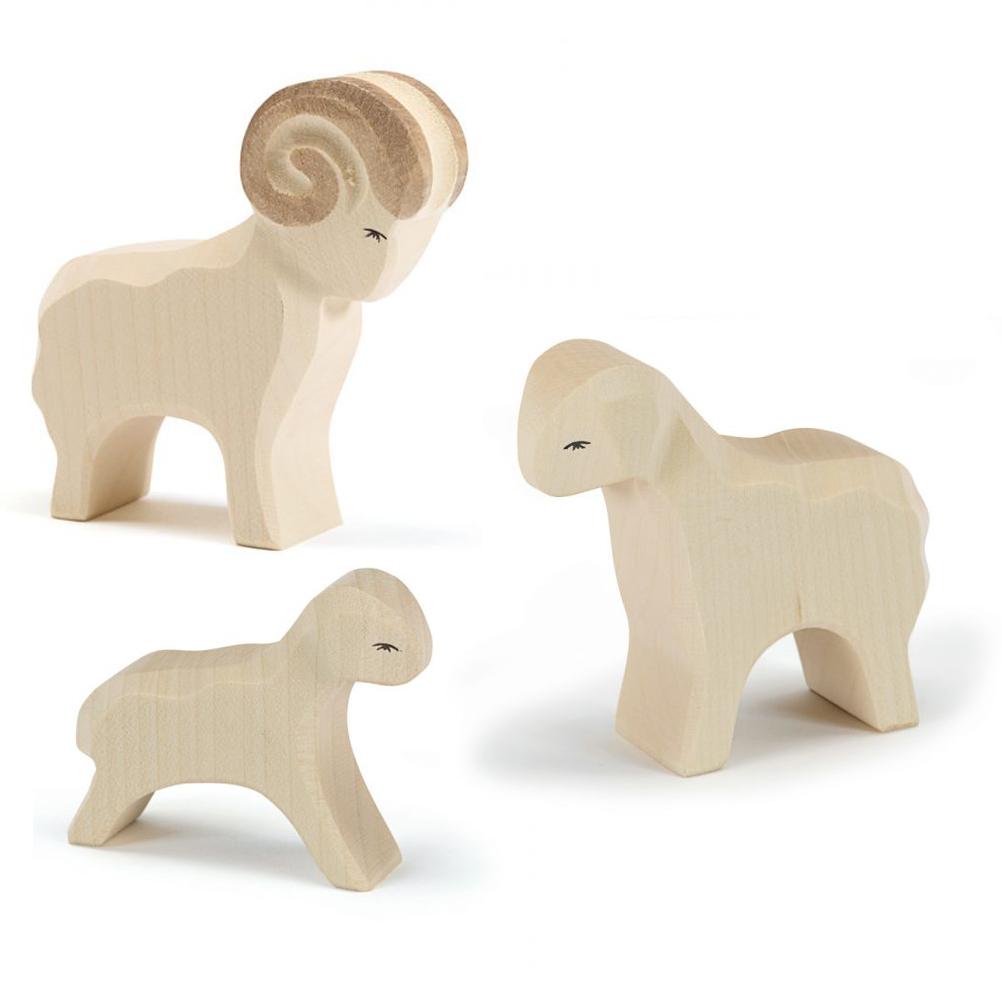Figure legno Famiglia pecore - Ostheimer