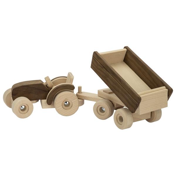 Automezzo trattore con rimorchio Goki nature
