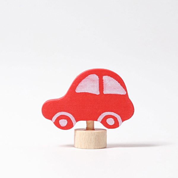 Figura decorativa legno macchina rossa Grimm's
