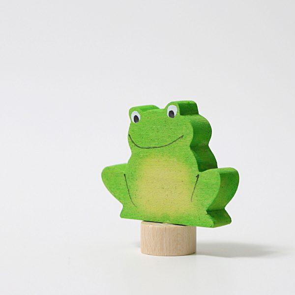 Figura decorativa legno rana verde Grimm's (2)
