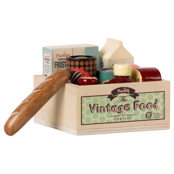 Set gioco vintage food grocery box Maileg