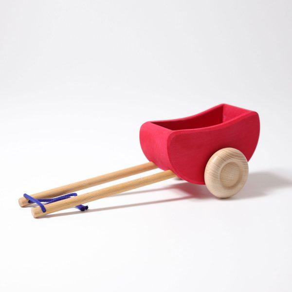 Carro di legno - Horse Wagon rosso Grimm's